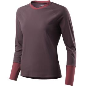 Houdini Liquid Skin Crew Shirt Dam backbeat brown/pava red